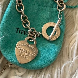 Tiffany&co toggle heart tag bracelet 8""